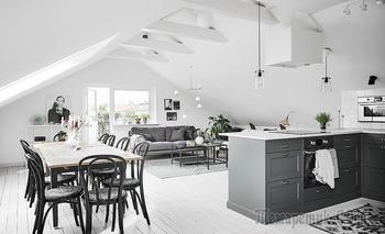 Шведская двушка 58 м² на чердаке