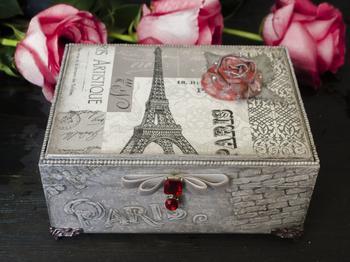 Декорируем шкатулку «Любовь к Парижу»
