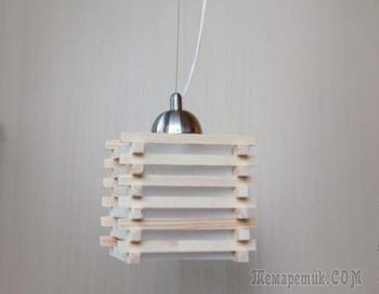 Стильный деревянный светильник своими руками