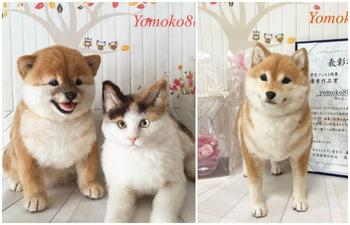 Собаки и кошки из валяной шерсти