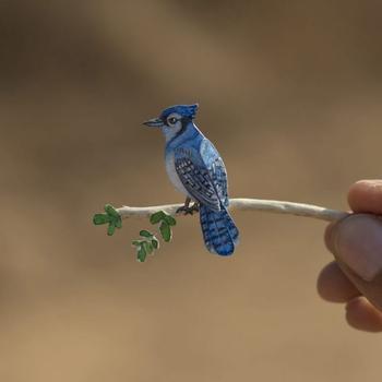 Крошечные птички из бумаги