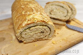 Чесночный хлеб с травами. Ароматный домашних хлеб с чесноком и травами