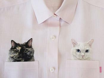 Карманные котики: чудесные вышивки от японского дизайнера