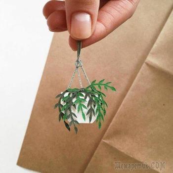 Трёхмерные бумажные растения от Тани Лиссовой