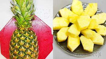 Как почистить ананас быстро