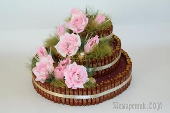 Как сделать торт из конфет для начинающих. Торт из конфет и сока своими руками
