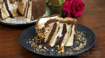 Сливочный торт без выпечки за 10 минут (мой любимый)