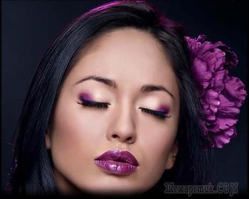 Дерзкий фиолетовый макияж