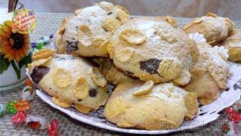 Печенье «Чудесное» с хлопьями и шоколадом