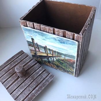 DIY Коробка из картона | Декор коробки | Переделка коробки