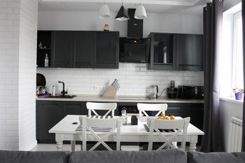 Кухня: строгая стильная студия