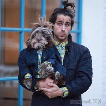 Парень и его любимая собака очень похожи друг на друга. Очаровательные портреты двух друзей