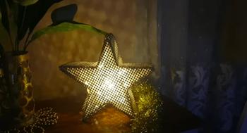 Новогоднее украшение из деревянных шпажек