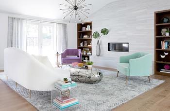 Весёлый современный интерьер дома в Калифорнии