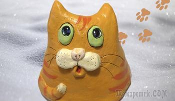 Бродячий уличный котик. Кот из бетона для сада