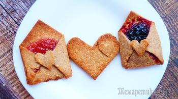 Съедобные валентинки печенье