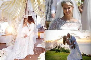 10 самых эффектных свадебных платьев знаменитостей 2019 года