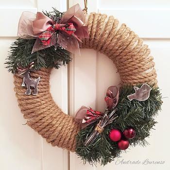 Украсить дом на Новый год и Рождество? Легко! Создаём рождественский венок своими руками