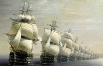 Корабли и их история в живописи Айвазовского.
