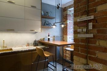 Квартира в индустриальном стиле с балконом в ванной комнате
