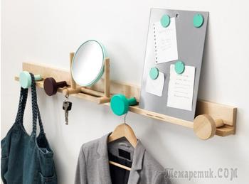 Настенная вешалка для одежды в прихожую своими руками