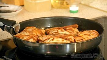 Вкусные блинчики с очень необычной начинкой из креветок и бананов