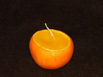Свеча-мандаринка