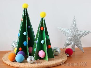 Мастерим с детьми: новогодняя елочка из картона