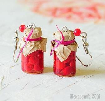 Кулон Баночка с вишневым вареньем – «Лето у бабули»