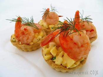 Чудо-тарталетки с креветками к Новогоднему столу!