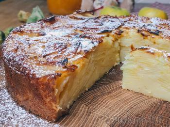 Очень вкусный и необычный яблочный пирог - яблок больше, чем теста