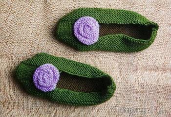 Оригинальные тапочки-носочки и тапочки-сапожки, схемы