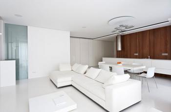 Квартира в стиле минимализм в белом цвете