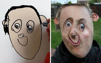Отец показал, как выглядели бы персонажи детских рисунков в реальной жизни