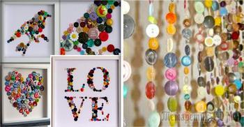 Вторая жизнь пуговиц: 25 потрясающих идей