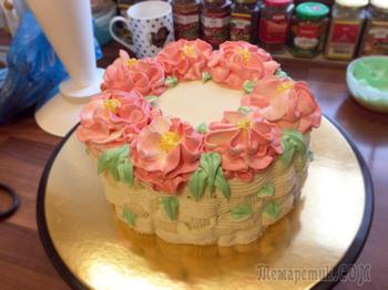 Сочный, упругий бисквит для торта
