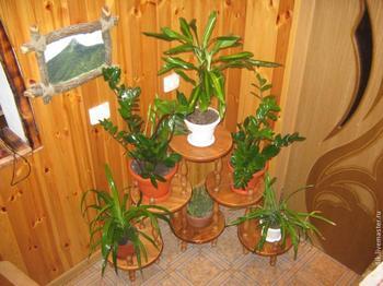 Деревянная этажерка-подставка для цветов своими руками