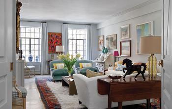 Красивая светлая квартира в стиле эклектика в Нью Йорк