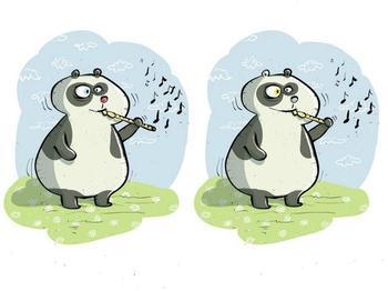 Тренировка внимательности: нужно найти 10 отличий между двумя пандами