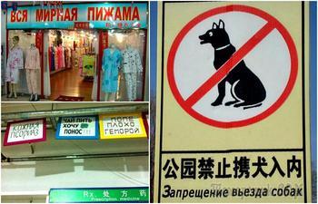 18 уморительных китайских вывесок и объявлений, «качественно» переведённых на русский