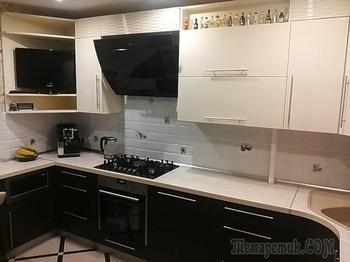 Кухня: спрятали трубы, газовый счетчик и котел