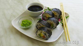 Ну очень вкусные домашние суши-роллы!