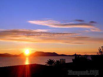Новый год в Греции.  Первый рассвет 2017 года на острове Лефкада.