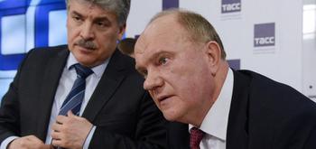 Зюганов пожаловался Путину на «шельмование» Грудинина.