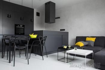 Монохромный интерьер квартиры