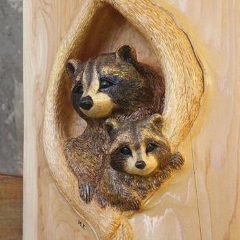 Удивительные скульптуры животных, вырезанные из дерева