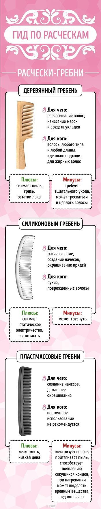 Как подобрать правильную расческу для своего типа волос