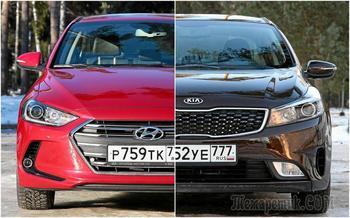 Kia Cerato или Hyundai Elantra: что предпочесть?