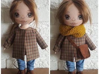 Шьем для куклы пальто со складкой на спинке