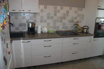 Наша кухня: в серо-бежево-голубых тонах